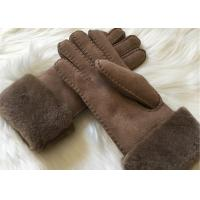 Buy cheap Bowie shearling-lined suede leather gloves double face fur lined leather gloves from wholesalers