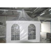China Clear And White Pvc Fabric Top High Peak Party Tent Transparent Soft Window wholesale