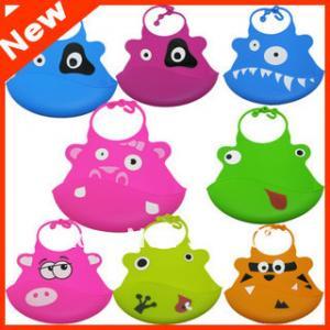 China Waterproof Silicone Baby Bibs Washable , Infant Feeding Slobber Pocket wholesale
