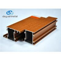 China Nature Color Wood Grain Aluminum Extrusion  / Aluminum Extrusion Framing Systems wholesale