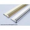China Semi Round Aluminium Tile Edge Trim Polished Light Golden And Silver wholesale