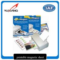 Quality Premium Inkjet Printable Flexible Magnetic Sheet Environmental Friendly for sale