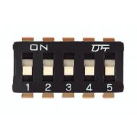 2.54mm IC Type Slide DIP Switch ON OFF SPST 1 - 12 Poles Packed In Tube
