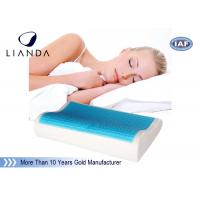 China Wave shape Cooling gel memory foam pillow / adult king size cool gel pillow wholesale
