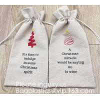 Buy cheap Drawstring Burlap Jute Sacks Jewelry Candy Pouch Christmas Wedding Party Favor from wholesalers
