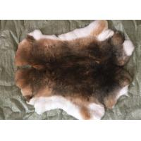 China 30*40cm Rex Rabbit Fur Skins Warm Soft , Chinchilla Rex Fur With Natural / Dyed Color wholesale