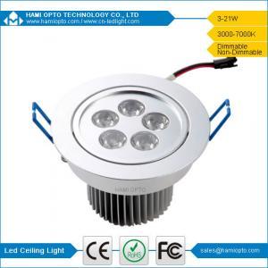 China 5W Led ceiling light AC 85V ~ 265V, 50000H Life-Span wholesale