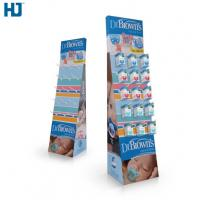 Buy cheap CMYK Color Cardboard Display Shelves Customized Hooks Retail display Baby from wholesalers