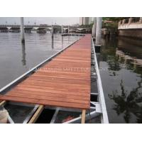 China Floating dock with aluminum frame decking Foam-Filled Floating pontoons Hdpe plastic pontoon wholesale