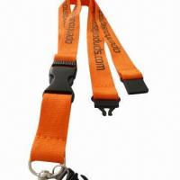 China Polyester promotional fashion neck lanyard/ID card holder strap for birthday giveaways  wholesale