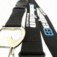 China Bottle opener polyester promotional neck lanyard strap for birthday giveaways wholesale