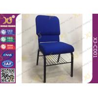 China Padded Hotel Seating Metal Stackable Church Hall Chairs With Logo / Interlock wholesale