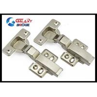 China Stainless Steel Furniture Fittings Hardware , Soft Close Half Overlay Cabinet Hinges Hydralic Door Hinges wholesale