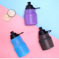 China 480ML Collapsible Silicone  sport bottles Food Grade BPA Free with custom logo wholesale