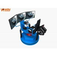 China Bright Blue Color Virtual Car Racing Simulator Movable Seats For Amusement Park wholesale