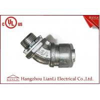 China 3/4 Flexible Conduit Fittings / Insulated Flexible Duct Connector , UL Certification wholesale