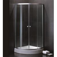 China 800 X 800 Quadrant Shower Enclosures And Tray With Magnetic Stripes Ss Sliding Handle wholesale