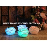 China Electric Party Flameless LED Christmas Window Candles Lights with Rose Flower Shape on sale