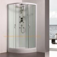 China 800 x 800mm quadrant shower enclosure sliding shower glass door with back jets wholesale