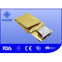 China Regular First Aid Emergency Blanket  , Gold / Silver Aluminum Foil Survival Blanket wholesale