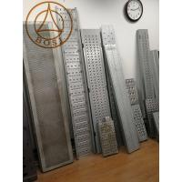 China Construction Metal Scaffold Deck Perforated Board Walk Platform Roll Forming Making Machine wholesale