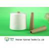 China High Tenacity Raw White / 100% Ring Spun Polyester Yarn For Making Thread wholesale