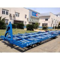 China Labor Saving 20 Ft Container Pallet Dolly Wear Resistance With Solid Tire wholesale