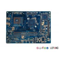 Medical ECG Device PCB Circuit Board Multilayer With Blue Solder Mask