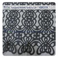 Eco - Friendly Customized Embroidered Fabric Lace Polyester Textiles 130cm Width