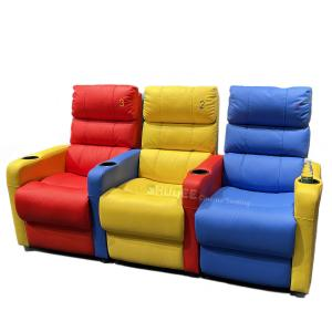 China 3D Colorful Home Cinema Sofa VIP Leather Theater Seat With Electric Recliner wholesale