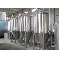 China Dish Top Stainless Steel Conical Fermentation Tanks 2 - 5mm Thickness wholesale