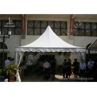 China Outdoor Soft PVC Window Pressed High Peak Tents Aluminum Alloy Frame wholesale