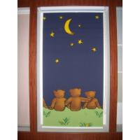 China Manual Cartoon Patterned Roller Blind , Fire-retardant Fabric Blind on sale