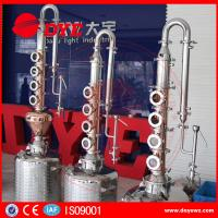 China reflux vodka distiller 6plates copper column distill equipment home alcohol distillers wholesale