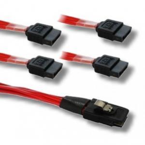 Buy cheap Sff 8087 To 4 180° Sata Internal Mini Sas To 4 Sata 36 Pin Dc 300v 10ms from wholesalers