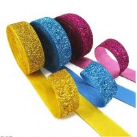 China Gift Packaging Metallic Glitter Ribbon Multi Color Customized Width wholesale