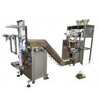 China 220V Triangle Seal Tea Pouch Packing Machine Used To Tea / Herbs / Coffee on sale