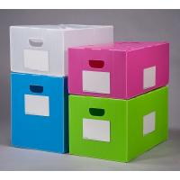 Buy cheap Polypropylene pp Corrugated Plastic Foldable Moving Box Plastic handle from wholesalers