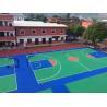 China Seamless Rubber Basketball Court Flooring , Polyurethane Resin Soft Rubber Flooring wholesale