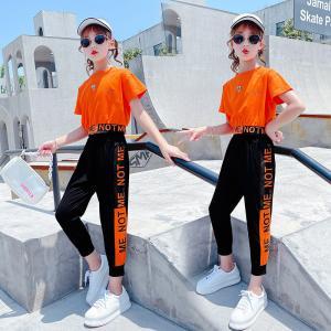 China 110CM-160CM Spring Autumn Kids Cotton Clothing Set Girls Tops wholesale
