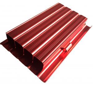 China 6063 Aluminum Housing CNC Machining Parts Anodized Aluminium Profile Red Color wholesale