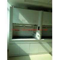 China Alkali And High Temperature  Resist All Steel Fume Hood With Third Level Air Exhaust / Tempered Glass Window wholesale