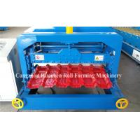China 5.5KW Glazed Tile Roll Forming Machine , Roof Panel Forming Machine 0.3-0.8mm Thickness wholesale