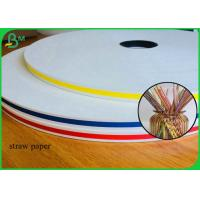 China 60GSM And 120GSM White Kraft Paper To Make Colorful Straw Tubes on sale