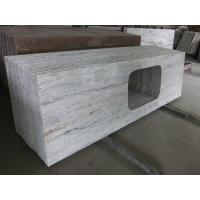 Gray thick stone slab countertop stone vanity tops 108 x for 2 thick granite