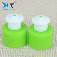 China Green Plastic Push Pull Caps 20mm 24mm 28mm Fit Cosmetic / Perfume / Detergent wholesale