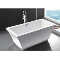 China Fashionable Indoor Small Freestanding Bathtub , Oval Soaking Tub For 1 Person wholesale