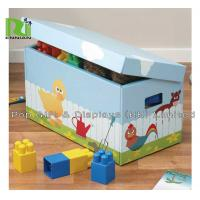 China Kids Corrugated Cardboard Furniture Foldable Cardboard Storage Boxes With Lids on sale