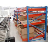 China Metal Blue Gravitational Rolling Fluent carton Flow rack for Warehouse wholesale