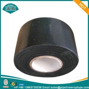 China Black Polyethylene Anti Corrosion Tape Extrusion 12 Mils X 4 Inch X 100ft wholesale